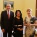 középen Csillik Dilara a belarusz nagykövet úrral és feleségével