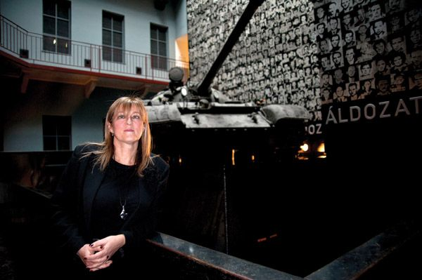 Mária Schmidt has been the director of the House of Terror museum from the outset.