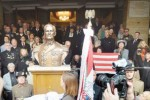 The unveiling of the Horthy statue