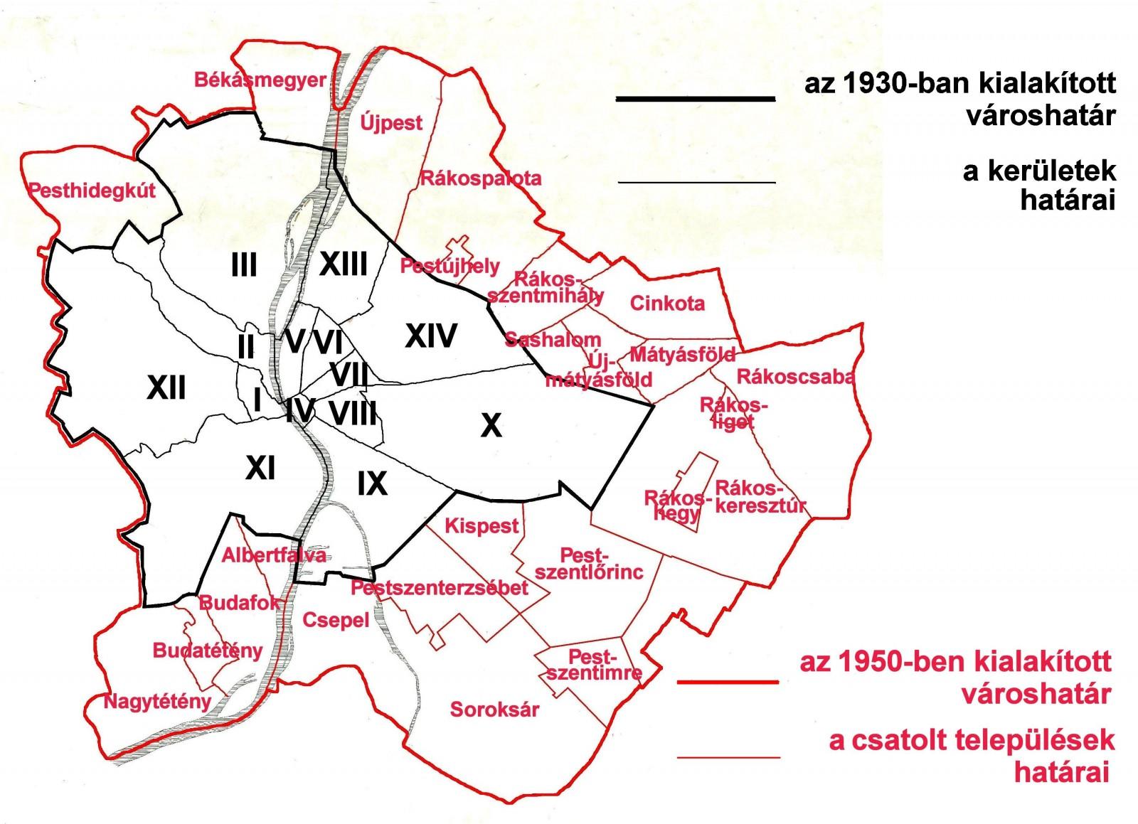 budapest térkép 1950 One big city, however you size it up   The Budapest Times budapest térkép 1950