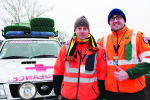 Two Belgian army medics in a  converted ambulance will  accompany every leg of the journey