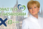"""Vote for justice"" –The party of Katalin Szili is also among the accused. (Photo: KTI Facebook page)"
