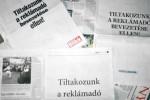 Protesters from the print  media included Blikk, Magyar Nemzet, Népszabadság, HVG, Metropol, Népszava, Nemzeti Sport and others