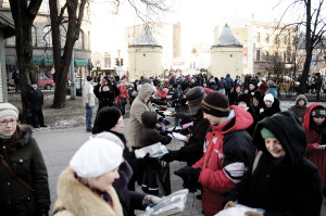 Chain of booklovers in Riga, which is the European Capital of Culture this year