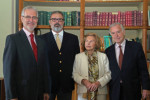 Vice President András Lipcsei, guest speaker Captain Petar Maric, Countess Éva Bornemissza and Albert Royaards.