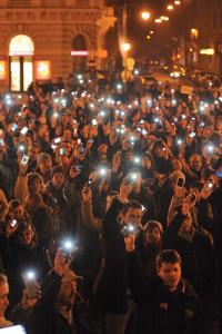 Internetadó - Tüntetés Szegeden
