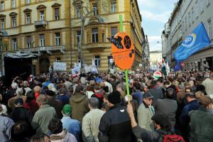 """Tüntetés """"a korrupció kormánya ellen"""" - Budapest"""