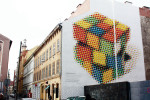 The Rubik's Cube of Neopaint, one of many around the district.