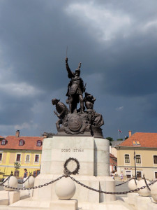 Dobó statue  in main square