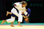 Hedvig Karakas (blue) won silver in judo