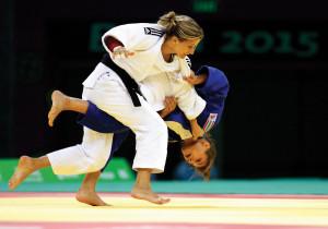 Hedvig Karakas (blue) won silver in judo
