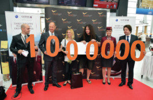 In July the airport had  a million passengers in  a month for the first time
