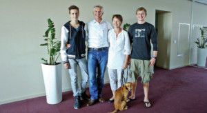 Thomas Faustmann  and his family