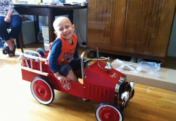 Leon asked for  a fire truck toy car
