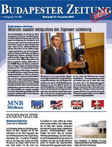 Budapester Zeitung  - BZ 2015 11