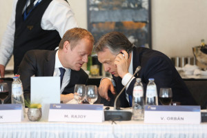 President of the European Council Donald Tusk and Viktor Orbán