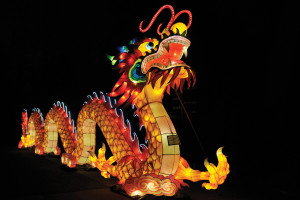 Dragons' nights lantern festival in Budapest Zoo until 22 May