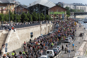 Bikers demonstrate for better conditions in Budapest