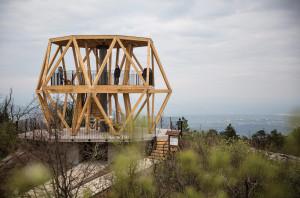 The new lookout on Hármashatár-hegy