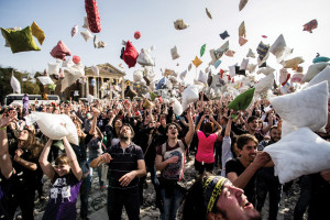 International Pillow Fight Day in Budapest