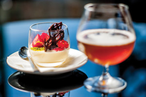 Panna cotta with a strong and savory Belgian ale