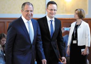 Lavrov (left)  and Szijjártó