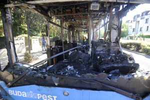 BKV bus burns out in District II. No injuries