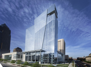 The Hilton  in downtown  Cleveland