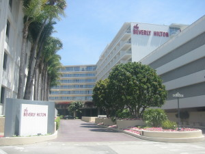 The Beverly Hilton  in Los Angeles has hosted  the Golden Globe Awards  since 1961