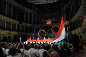 Rio2016 participants take the Olympic Oath in Budapest