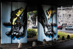 Painting of murals in Budapest continues as part of the Colourful City Festival