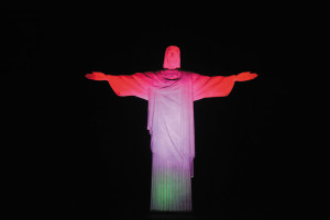 Christ the Redeemer in Rio de Janeiro lit up in Hungarian colours on the 100th anniversary of the coronation of Charles IV, the last king of Hungary. The gesture aims at acknowledging Hungary's role in protecting Christianity