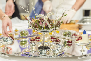 The Hungarian tray at the world finals of Bocuse d'Or. Chef Tamás Széll won the award for best meat plate and finished fourth overall