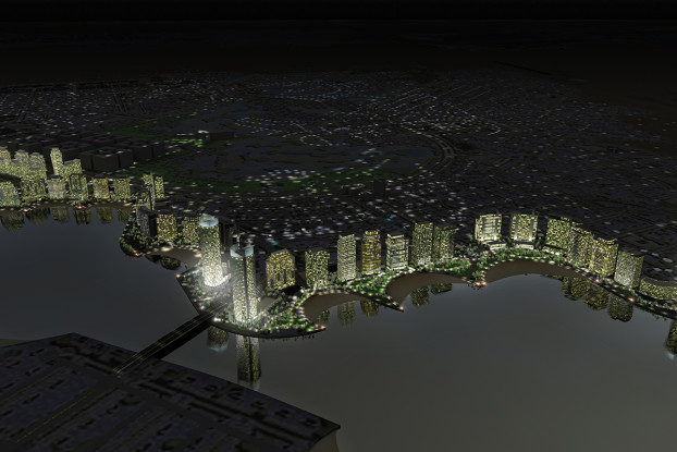 The Lusail waterfront development in Doha